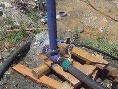 elektriksiz yakıtsız su pompası (su koçu pompası )(hydraulic ram pump)
