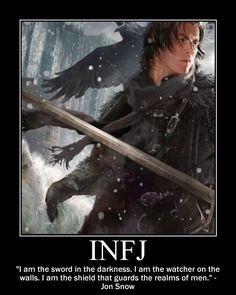Jon Snow as INFJ