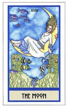 Tarot Card the Moon