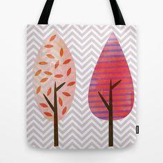 Fall Trees Tote Bag