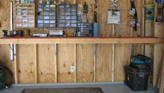 Space saving garage work  bench.