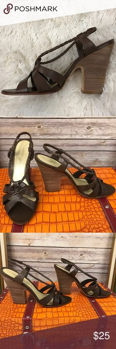 """Imagine by Vince Camuto Strappy High Heel Sandals Stunning braided leather high heel sandals that will complete every outfit. Size (8 1/2) Heels (4.25"""") Vince Camuto Shoes Heels"""