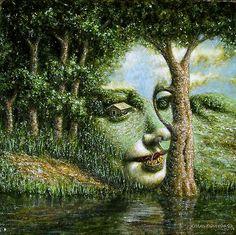♥ Apparition of an Angel in a Landscape II - Jósean Figueroa