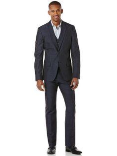 Slim Fit Navy Linen Suit