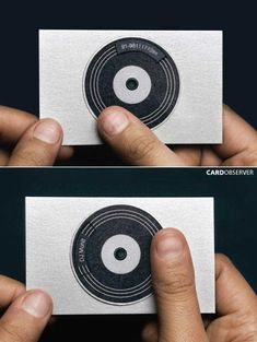 dj business card - the simple ideas speak volumes (excuse the pun).