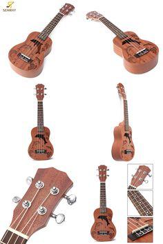 [Visit to Buy] Professional 21 Inch Soprano Ukulele Uke Hawaii Guitar Sapele 15 Fret Wood Ukulele Musical Instruments For Begginer Gift #Advertisement