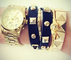 studded wrap leather bracelet