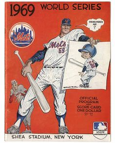 National Baseball Hall of Fame - World Series Programs - 1969 Mets Cover Art