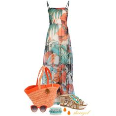"""Maxi Dress Contest"" by sherryvl on Polyvore"