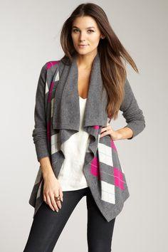Argyle Drape Sweater