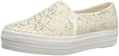 Keds Women's Triple Decker Flocked Leopard Sequins Fashion Sneaker, Cream, 9 M US * You can get additional details at the image link.