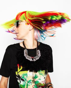 Rainbow hair!-pin it by carden