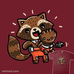 Father Figure | Shirtoid #comic #comics #film #groot #guardiansofthegalaxy #movies #rocketraccoon #walmazan #wenceslaoalmazan