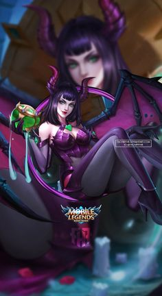 Wallpaper Phone Alice Spirit Woman by FachriFHR on DeviantArt Character Illustration, Character Drawing, Miya Mobile Legends, Akali League Of Legends, Alucard Mobile Legends, Moba Legends, Alice, Legend Games, The Legend Of Heroes