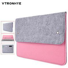c10413866eb US $5.27 12% OFF|Super Slim Wolvilt Laptop Tassen 11 13 14 15 17.3 Inch voor  Mac book Pro Air 13 11 Inch schokbestendige Notebook Tas Hndbag Mannen  Vrouwen ...