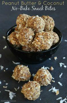 No-Bake Peanut Butter Coconut Snack Bites – Mom Endeavors