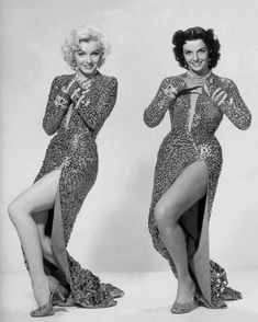 "Marilyn Monroe and Jane Russell publicity photo for ""GENTLEMEN PREFER BLONDES"" (20th Century Fox, 1953)"