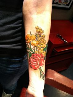 Flower tattoo,