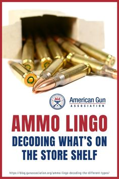 Expand your knowledge in ammo lingo and know the meaning of acronyms and bullet terminology to help you as a gun owner. #ammo #ammunition #gunsandammo #gunaccessories #gunassociation