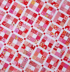 Red Pepper Quilts: Strawberry Nine Patch Quilt
