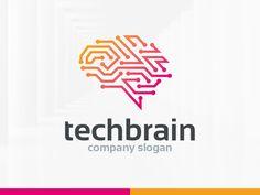 keywords: brain logo design corporate neurology science technology tech healthcare network networking connection