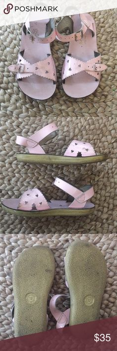 """Girl Salt Water Sandals by Hoy Salt Water Sandals by Hoy  """" Sweet heart sandal""""             Size 12. Needs a good cleaning but still in good condition. ( bundle and save) Salt Water Sandals by Hoy Shoes Sandals & Flip Flops"""