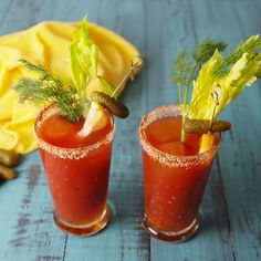 Dill Pickle Bloody Mary – içecekler – Home Recipe Holiday Drinks, Summer Drinks, Fun Drinks, Healthy Drinks, Alcoholic Drinks, Healthy Recipes, Refreshing Drinks, Mixed Drinks, Healthy Food