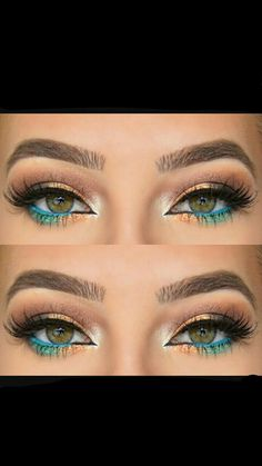 PERFECT SUMMER EYE MAKEUP. For pretty and cute girls ♡