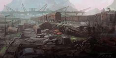 City of dust by zhangc.deviantart.com on @deviantART