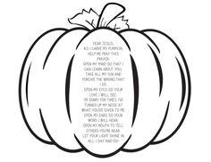 Pumpkin Prayer Coloring Page