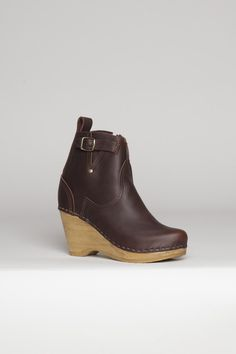 Buckle Wedge Boot by No. 6 / molasses