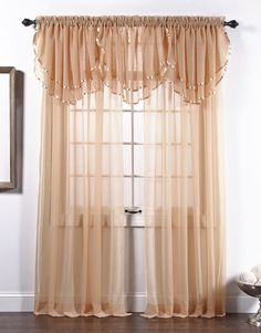 Look at this Gold Elegance Curtain Panel by belle maison Sheer Curtain Panels, Window Panels, Sheer Curtains, Window Curtains, Valance, Grey Blackout Curtains, Rideaux Design, Curtain Designs, Curtain Ideas