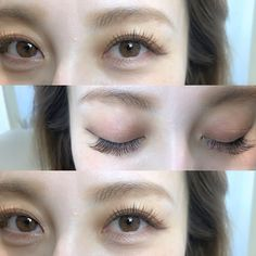 Beauty Make Up, Hair Beauty, Fresh Face Makeup, Eyelash Extensions Styles, Eyelash Salon, Asian Eye Makeup, Asian Eyes, Korean Beauty, Natural Makeup