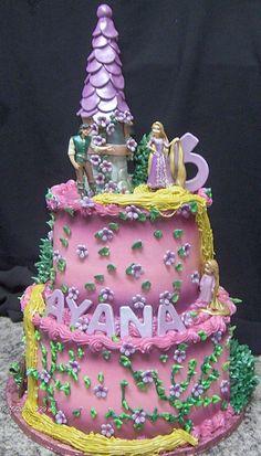 barbie tangled cake