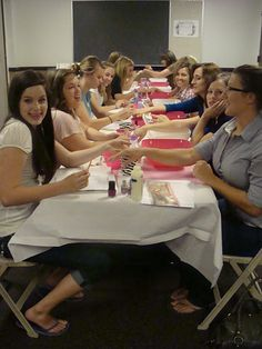 YW Activity....beauty salon.  See the site for the whole setup.....really cute & fun!