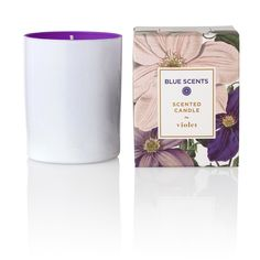 "Green Blu - ""BLUE SCENTS"" Violet Scented Candle 135gr"