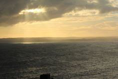 Sun setting over the mainland, from Phillip Island.