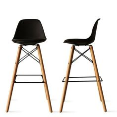 zoom indisponible Bar Chairs, Bar Stools, Bar Noir, Chaise Bar, Kitchen Stools, Zoom, Home Kitchens, New Homes, House