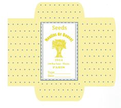 Family Home and Life: Seed Packets Free Printable