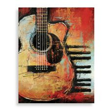 Guitar print for son's room.