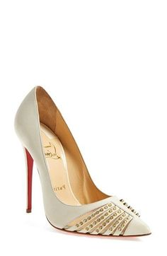Christian Louboutin 'Baretta' Spike Mesh Pump available at #Nordstrom