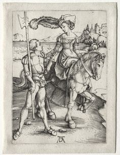 The Lady Riding and the Landsknecht | Cleveland Museum of Art  (More for the horseback riding than anything else.