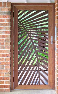 New Laser Cut Metal Screen Interiors Ideas Metal Gates, Metal Screen, Metal Doors, Screen Design, Villa Architecture, Tor Design, Laser Cut Screens, Front Gates, Front Entry