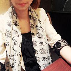 Goedkope Zon cape fluwelen zijde chiffon schedel sjaal lange ontwerp vrouwen lente, koop Kwaliteit Sjaals rechtstreeks van Leveranciers van China: Zon cape fluwelen zijde chiffon schedel sjaal lange ontwerp vrouwen lente