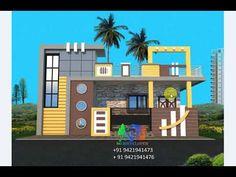 Village House Design, Village Houses, Modern Small House Design, Front Elevation Designs, Ground Floor, Architecture, Arquitetura, Architecture Design
