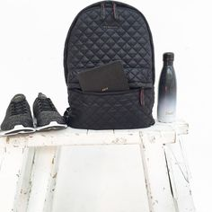 Motivated and ready to take on the week with our Metro Backpack in Black Oxford