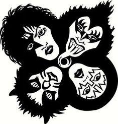 Kiss, Rock And Roll, Play, Band, Group- Vinyl Sticker Decal Kiss Band, Kiss Rock Bands, Kiss Tattoos, Top Tattoos, Banda Kiss, Kiss Logo, Band Stickers, Stencil Art, Stencils