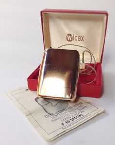 1965 WIDEX Pocket Model Transistor (body) HEARING AID, Model 40 Special, Works!