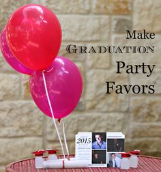 Easy to make graduation party favors and decor.  Great for all ages.