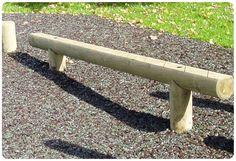 Childrens Playground Incline Balance Beam | Wooden | Treated Timber | Anti Slip | Suppliers UK